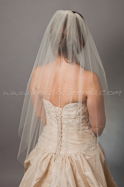 "Bridal Veil Single Layer - 42"" through 52"" Lengths"