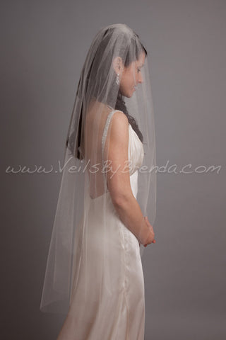 "Wedding Veil Single Layer - 30"" through 40"" Lengths"