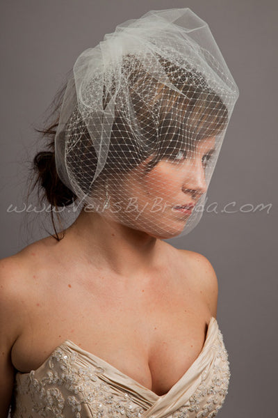 Double Layer Birdcage Veil, Illusion Tulle and Russian Netting