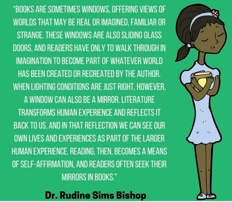 Books are Windows and Mirrors