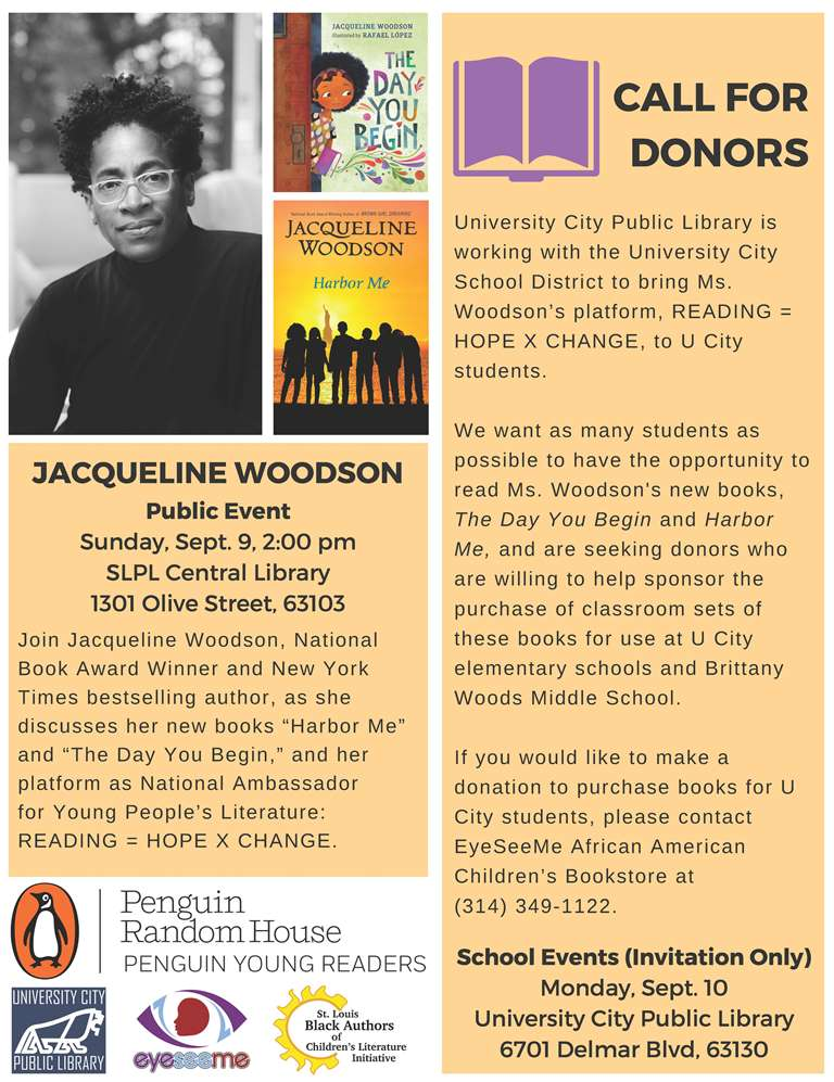 Jacqueline Woodson - Donors Needed - UCity
