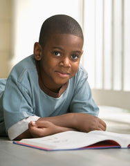 African American Boy Loving Reading