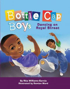 Bottle Cap Boys Dancing on Royal Street - EyeSeeMe African American Children's Bookstore
