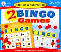 Addition & Subtraction 2 Bingo Games - EyeSeeMe African American Children's Bookstore
