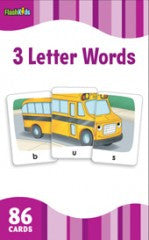 Flash Cards: 3 Letter Words  (Grade K - 2) - EyeSeeMe African American Children's Bookstore