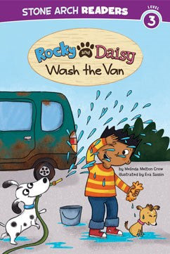Rocky and Daisy Wash the Van - EyeSeeMe African American Children's Bookstore