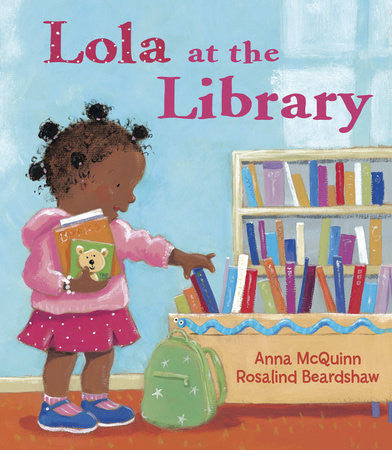 Lola at the Library (Spanish and English) - EyeSeeMe African American Children's Bookstore  - 1