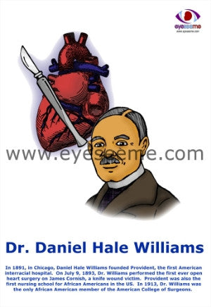 Dr.Daniel Hale Williams poster - EyeSeeMe African American Children's Bookstore