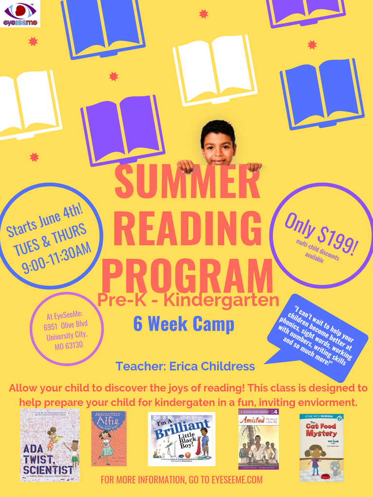 Summer Reading Program - Pre-K - Kindergarten