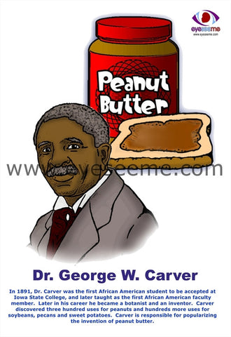 Dr. George Washington Carver poster - EyeSeeMe African American Children's Bookstore