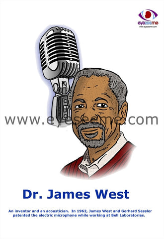 Dr. James West poster - EyeSeeMe African American Children's Bookstore