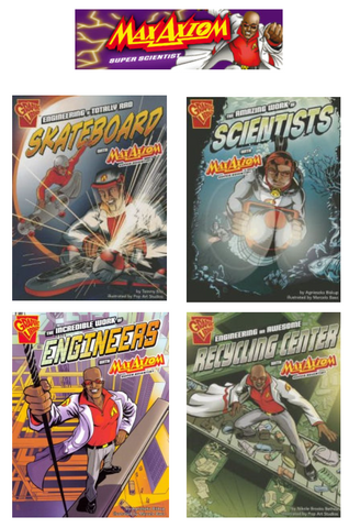 Max Axiom Science & Engineering In Action Series (4 titles) - EyeSeeMe African American Children's Bookstore
