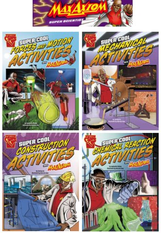 Max Axiom Science & Engineering Activities Series (4 titles) - EyeSeeMe African American Children's Bookstore