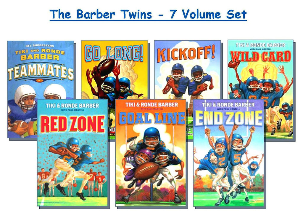 Tiki & Ronde (Barber Twins) Football Series - EyeSeeMe African American Children's Bookstore
