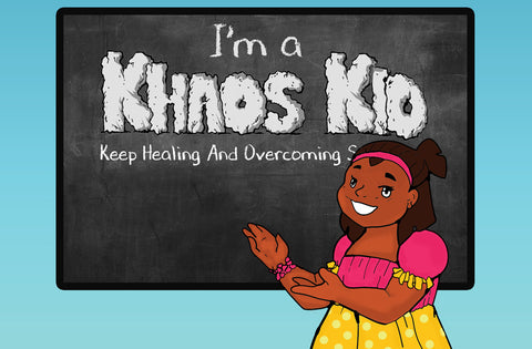 Please oh Please:  I'm a Khaos Kid - Keep Healing And Overcoming (Activity Book) - EyeSeeMe African American Children's Bookstore