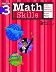 Workbook: Math Skills  (Grade 3) - EyeSeeMe African American Children's Bookstore