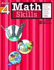 Workbook: Math Skills  (Grade 4) - EyeSeeMe African American Children's Bookstore