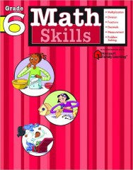 Workbook: Math Skills  (Grade 6) - EyeSeeMe African American Children's Bookstore
