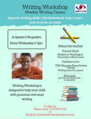 Writing Class for 6th - 9th graders