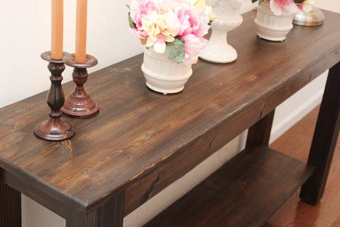 Rustic Yukon Lodge Console Table
