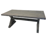 Grey X Base Trestle Farmhouse Table
