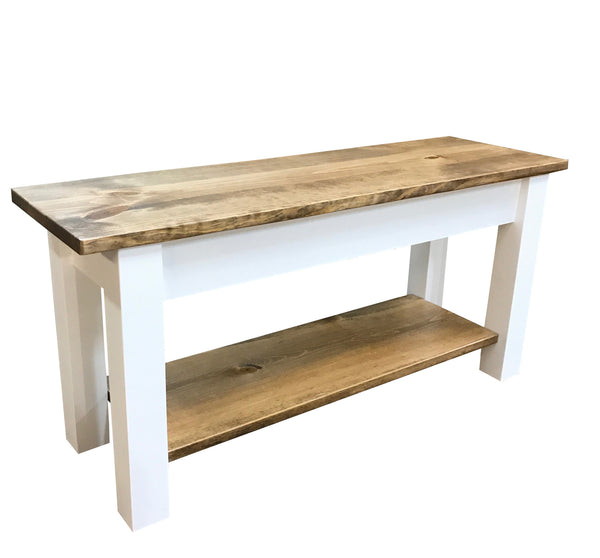 Ambler Bench with Shelf