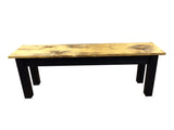 Barnwood & Black Bench Rustic Farmhouse Bench-1