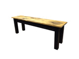 Barnwood & Black Bench Rustic Farmhouse Bench-2