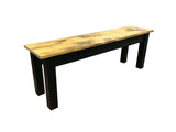 Barnwood & Black Bench Rustic Farmhouse Bench-4