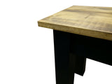 Barnwood & Black Bench Rustic Farmhouse Bench-3