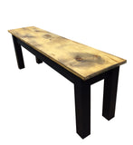 Barnwood & Black Bench Rustic Farmhouse Bench-5
