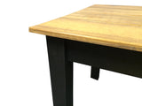 Rustic Barn wood and Black Farm Table Farmhouse Table 4