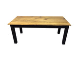 Rustic Barn wood and Black Farm Table Farmhouse Table 5