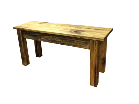 Rustic Barn wood Bench farmhouse bench-1