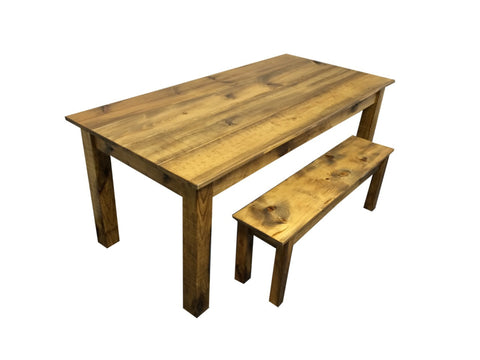 Rustic Barn wood  Farm Table Farmhouse Table-1