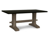 Black and Grey Trestle Table