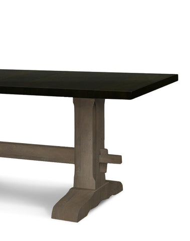 ... Black And Grey Trestle Table ...