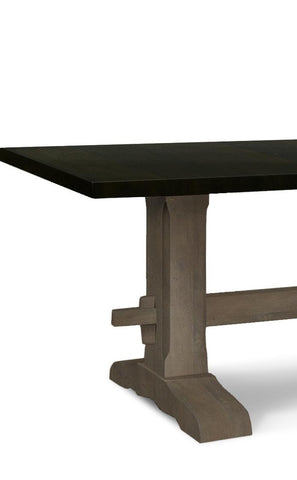 ... Black And Grey Trestle Table