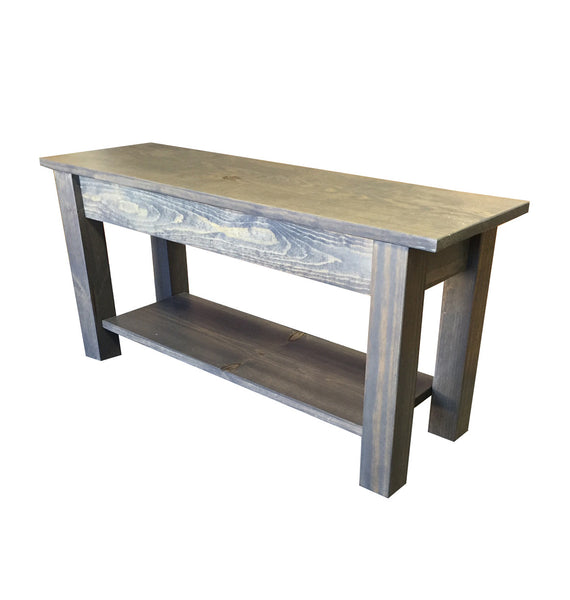 Cape Cod Bench with shelf
