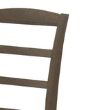 Grey Cape Cod Ladder Back Farmhouse Chiar