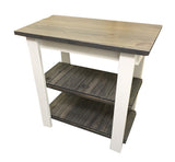 Rustic Shabby chic Cottage Kitchen Island with shelves