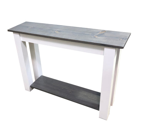 Rustic Cottage Sofa Table with Shelf Media Stand