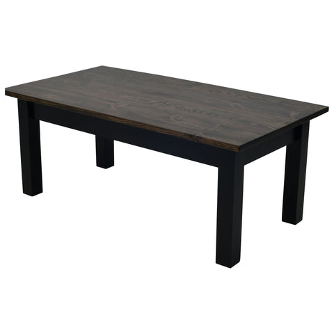 Dark Walnut and Black Coffee Table
