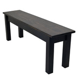 Dark Walnut & Black Bench Farmhouse Bench Rustic Bench Farm Bench