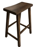 Dark Walnut Saddle Stool