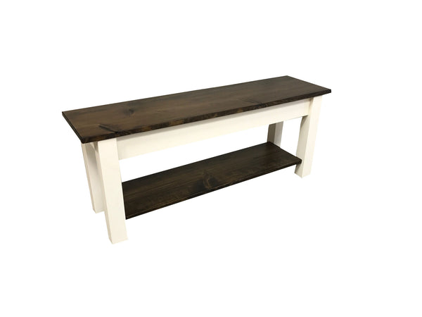 Lillian Homestead Bench with Shelf