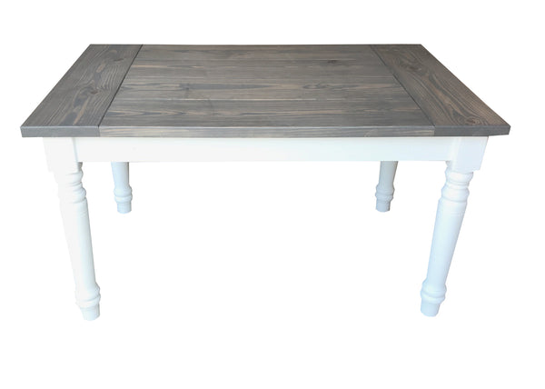 English Cottage Farmhouse Table turned legs