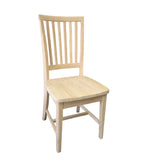 Hand Crafted Farmhouse unfinished Chair-2
