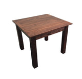 Smooth Top Mahogany Farm Table