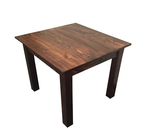 Red Mahogany Smooth Top Farm Table